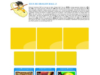 Jeux de dragonballz du web