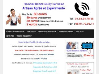 Professionnel plombier Neuilly-sur-Seine