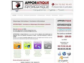 Apporatique - Dépannage et assistance informatique