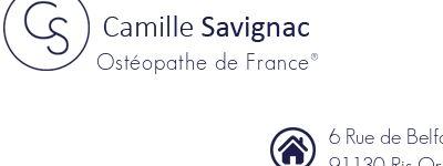 Ostéopathe Camille Savignac à Ris-Orangis et à Paris 14e
