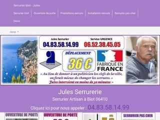 Artisan Jules Serrurier Biot
