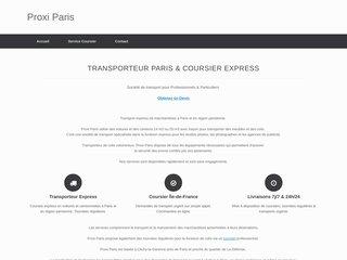 Transporteur Proxi Paris