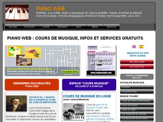 Piano Web, tous les claviers : piano, synthé et orgue