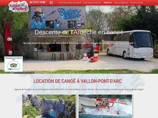Castor-Canoë - Descente en Ardèche avec bivouac dans les gorges