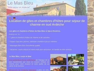 Le Mas Bleu - Location gîte en Ardèche