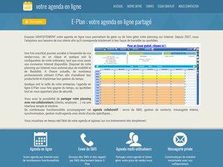 Agenda en ligne E-Plan