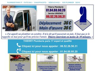 Plombier Paris 17