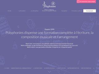 Polyphonies - cours de composition musicale à distance