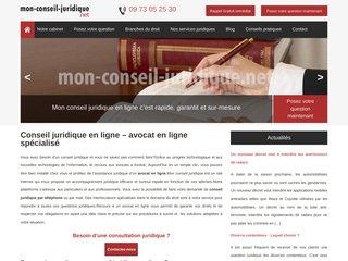 Mon conseil juridique : assistance juridique en ligne