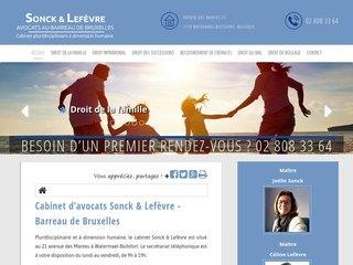 Cabinet d'avocats Sonck & Lefèvre à Bruxelles