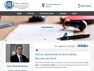Avocat spécialiste en droit pénal à Paris