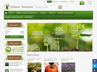 Graines et semences pour jardins et potagers