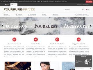 Fourrure Privee, la boutique en ligne spécialisée dans la fourrure
