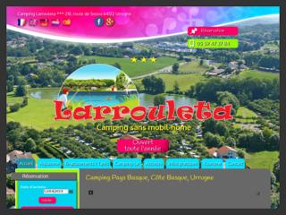 Camping Larrouleta, location mobil home et emplacement au Pays basque