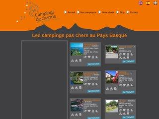 Campings de charme, location vacances au Pays basque