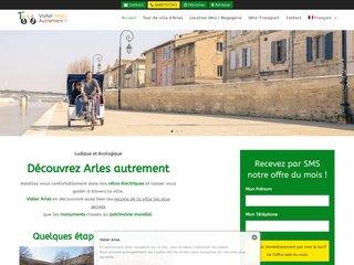 Visiter Arles avec Taco and Co en vélo Taxi