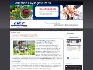 Formation paysagiste Paris agrée