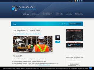 Qualiblog, le blog Qualité Sécurité Environnement