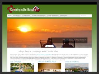 Camping-cote-basque, annuaire des campings situés au Pays Basque