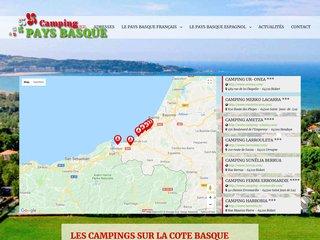 Les campings sur la côte basque, location de mobil home au Pays Basque