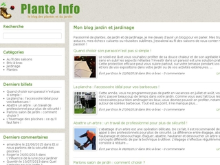 Un blog riche et attrayant sur le jardin : Plante Info