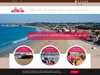 Lehena, école de surf à Hendaye