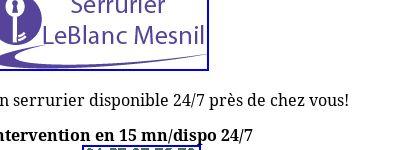 Serrurier Le Blanc-Mesnil