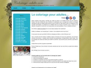 Coloriage adulte gratuit