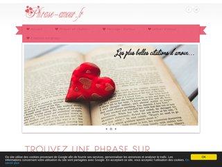 De nombreuses phrases d'amour...