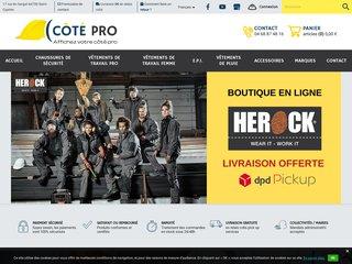 Cotepro, vente en ligne de vêtements de chantier