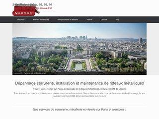 Installation rideau métallique Paris - Etablissements Marco