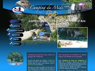 Camping du Midi - Vos vacances en sud Ardèche, dans les gorges