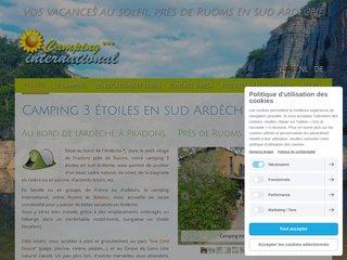 Camping International - Pour louer un mobil home du côté de Ruoms en sud Ardèche