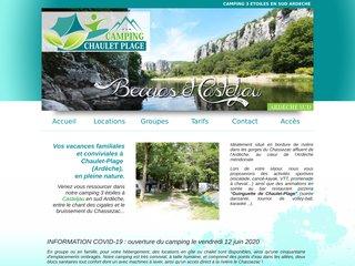Camping de Chaulet-Plage - Hébergement en groupe et activités sportives en Ardèche