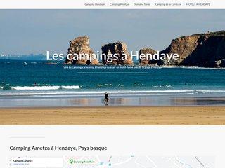 petit listing de campings à Hendaye