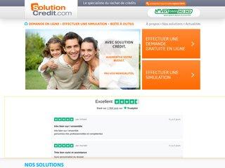Solution Crédit - Le spécialiste du rachat de crédits
