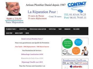 Canalisation bouchée Paris 7