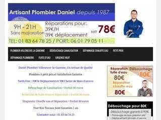 Plombier Villeneuve-la-Garenne